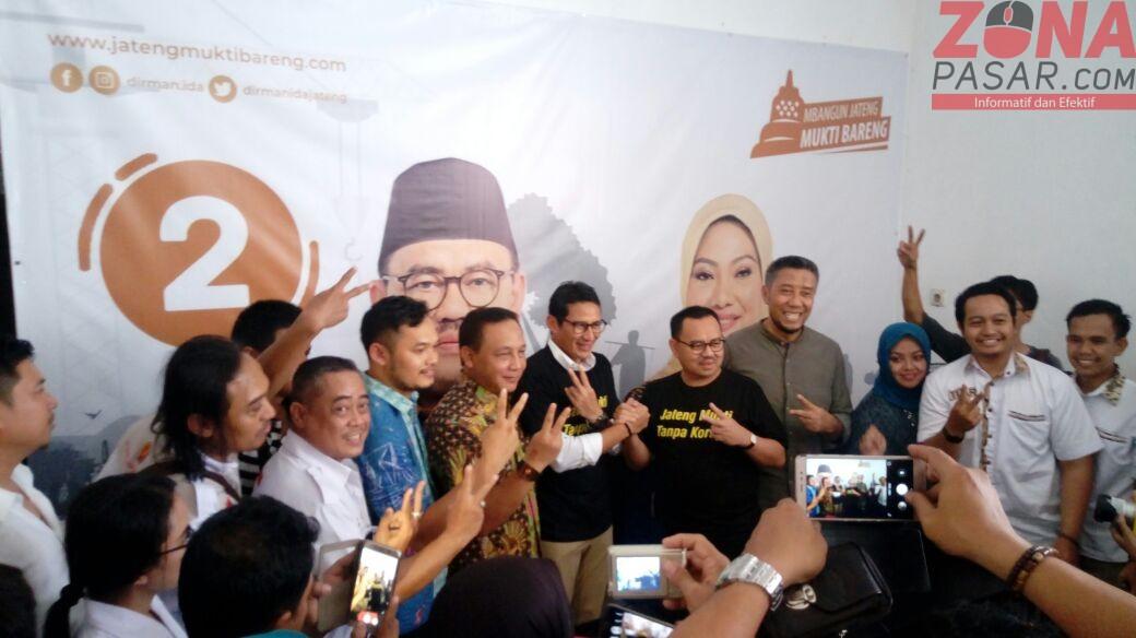 Sandiaga Salahudin Uno kampanye di Jateng